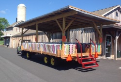 Burkholders fabric wagon
